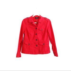 Talbots Red Cotton Blazer Jacket 4P Stretch